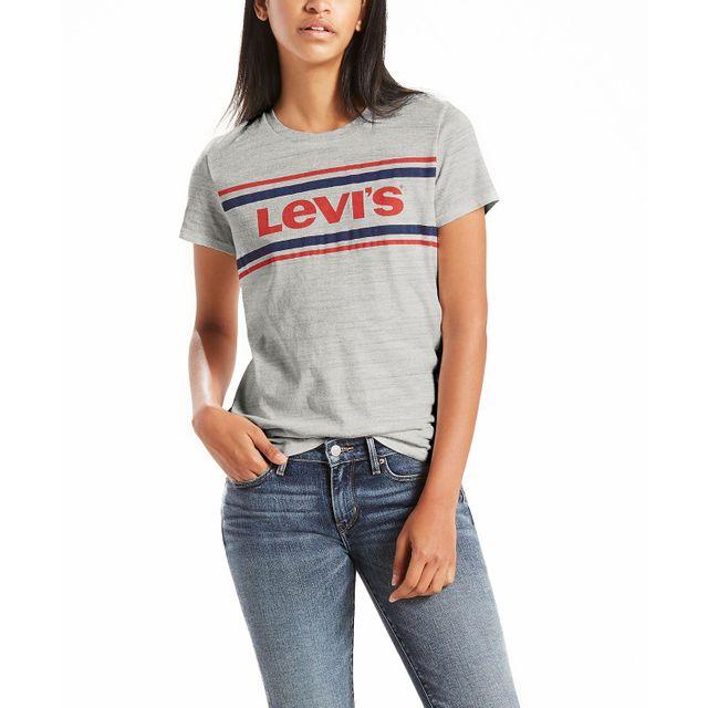 Camiseta-Levi's®-Logo-Sportswear-Stripped