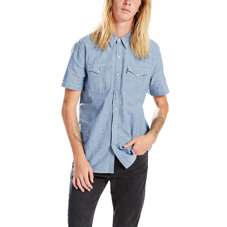 df6704f5e5 Camisa Jeans Levis Short Sleeve Classic Western - lojalevis