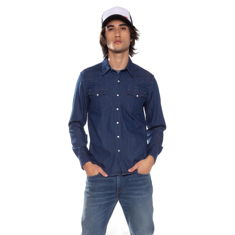 9af222be98 Camisa Jeans Levis Classic Western - lojalevis