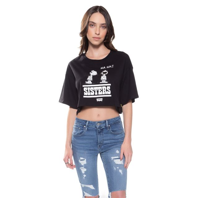 Camiseta-Levis-Graphic-Crop-Slacker-Snoopy