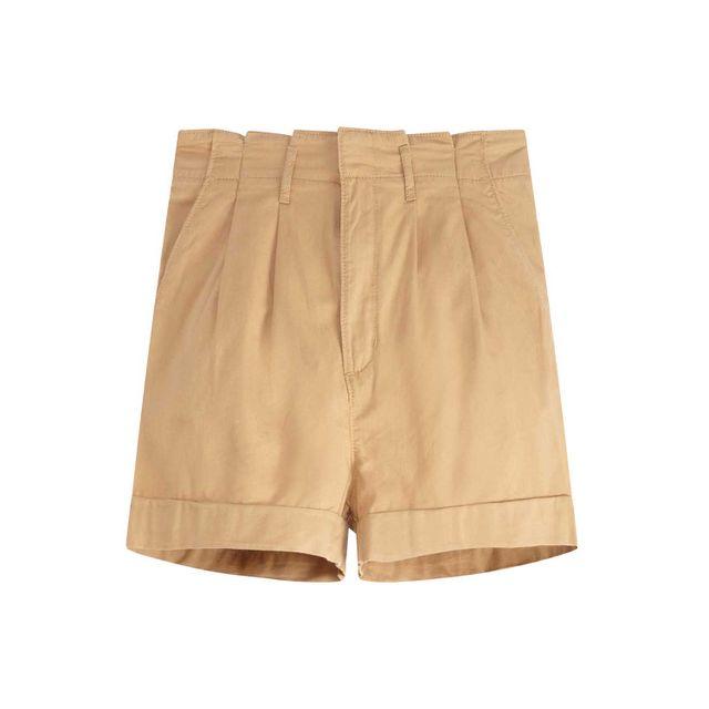 Shorts-Levis-Pleated-Tencel
