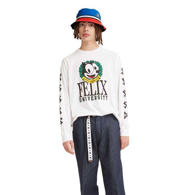 Camiseta-Levi-s-x-Felix-Relaxed-Manga-Longa